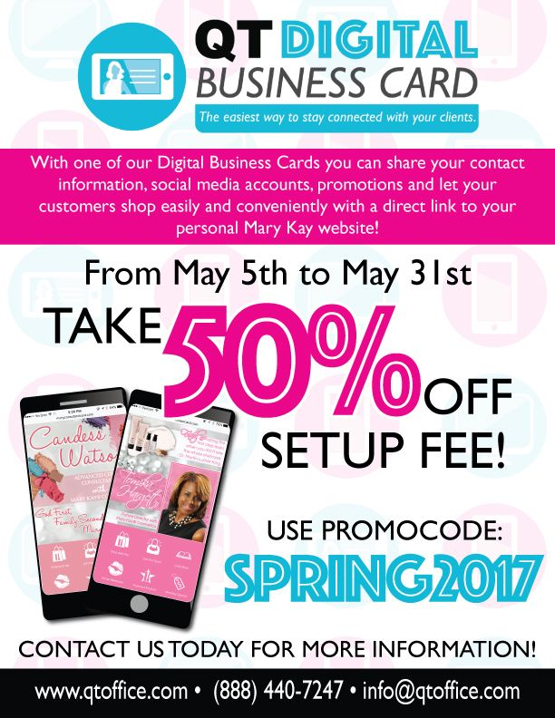 Limited time only! Take 50% off of your QT Digital Business