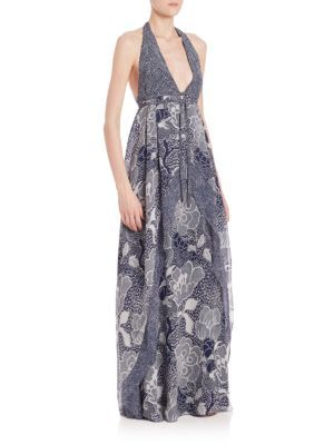 DIANE VON FURSTENBERG Fantasia Silk Maxi Dress. #dianevonfurstenberg #cloth #dress