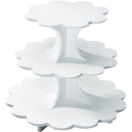 Sweet Server 3 Tier Stand Walmart Com Cupcake Holder Tiered Stand Wedding Cupcakes