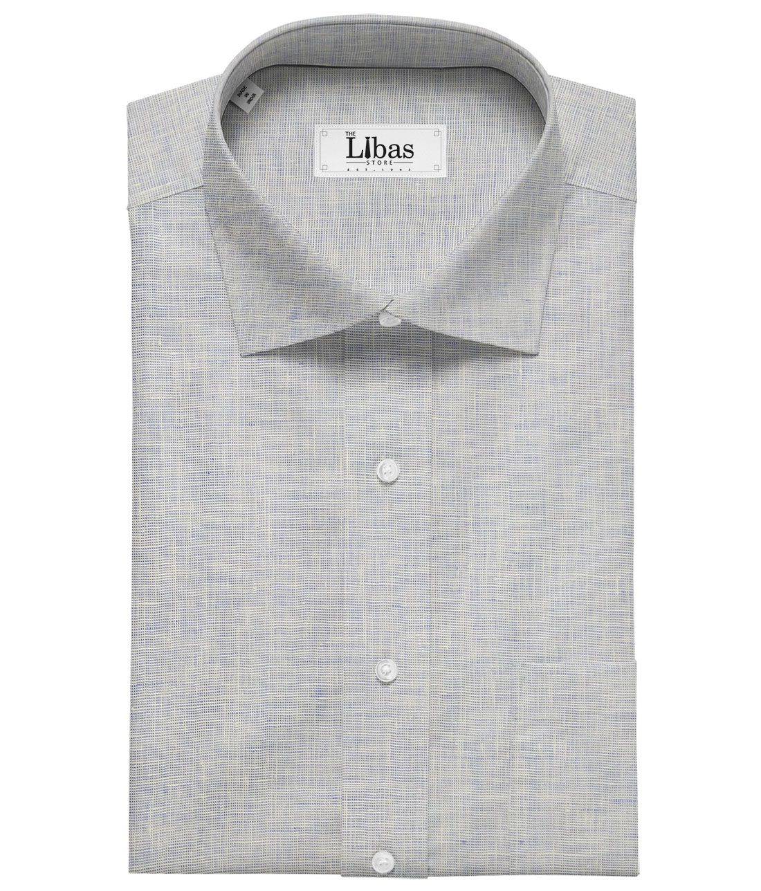 Linen Club White Blue Structured 100 Pure Linen Shirt Fabric 1 60 M Suit Fabric Shirts Fabric