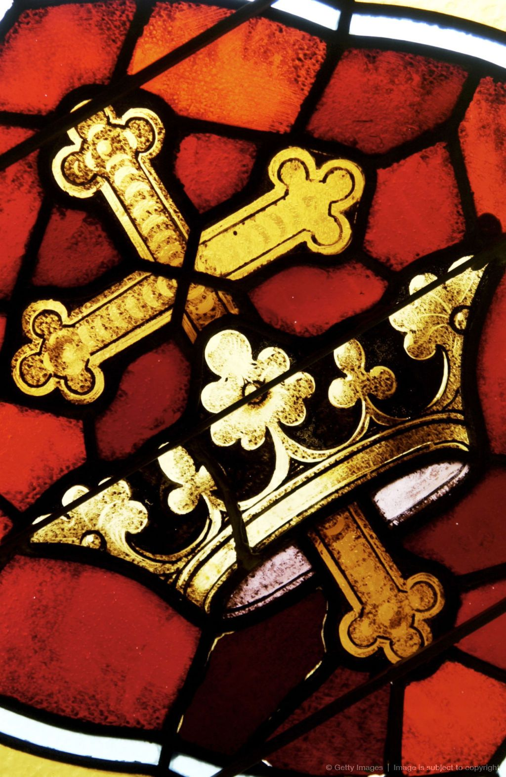 Cross And Crown On Stained Glass Window Stained Glass Art Art Stained