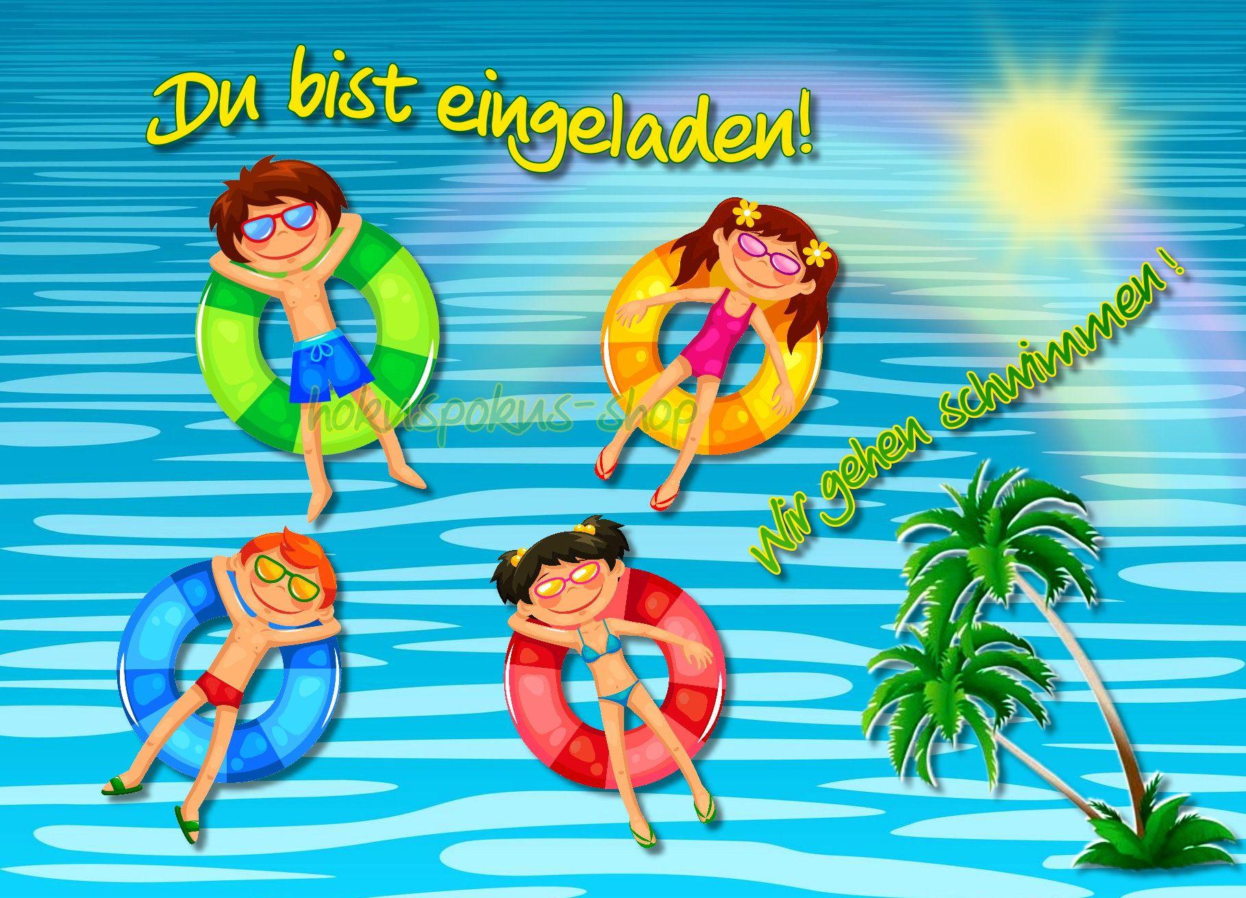 Einladung Kindergeburtstag Im Hallenbad Bad Forstenrieder Park