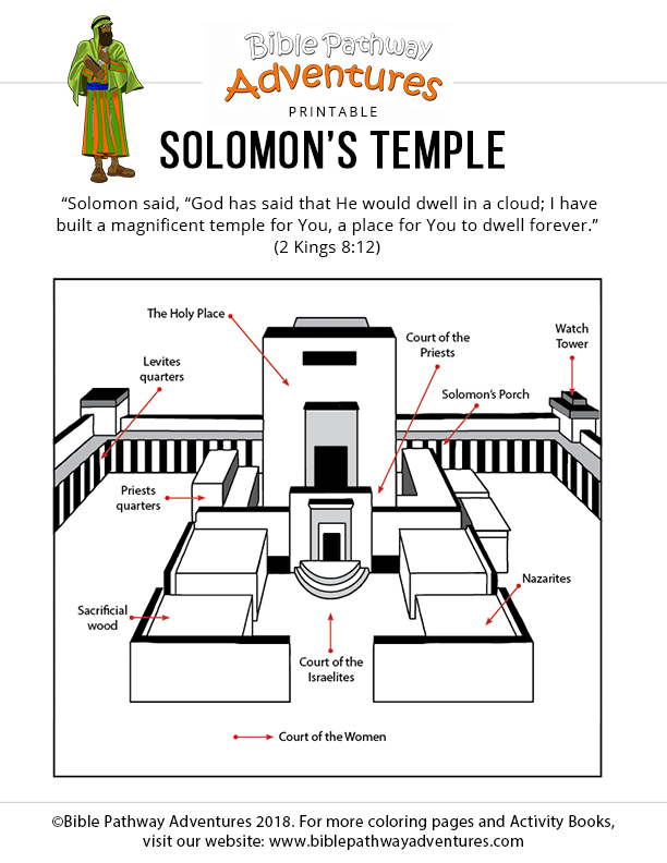 Bible coloring page: Solomon's Temple | Sunday school ...