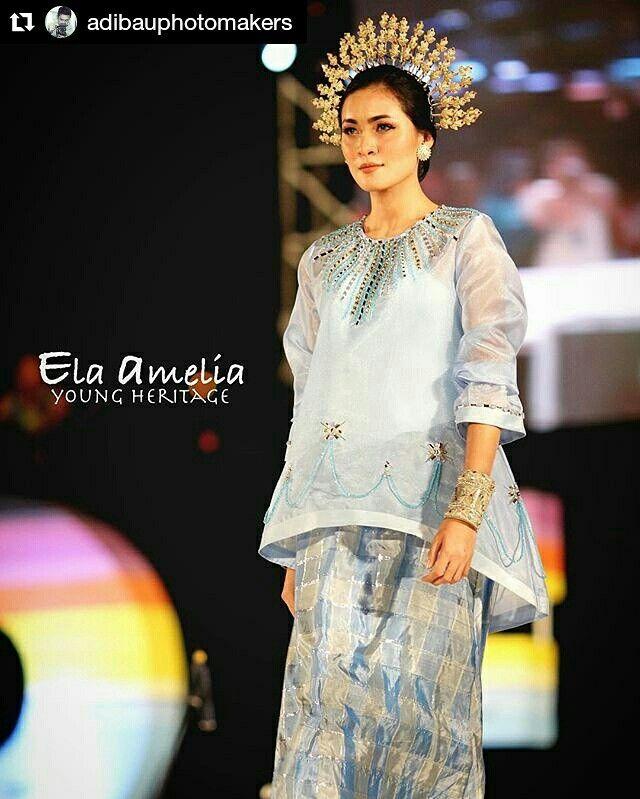 Baju Bodo Modern Tradisional Adat Bugis South Sulawesi