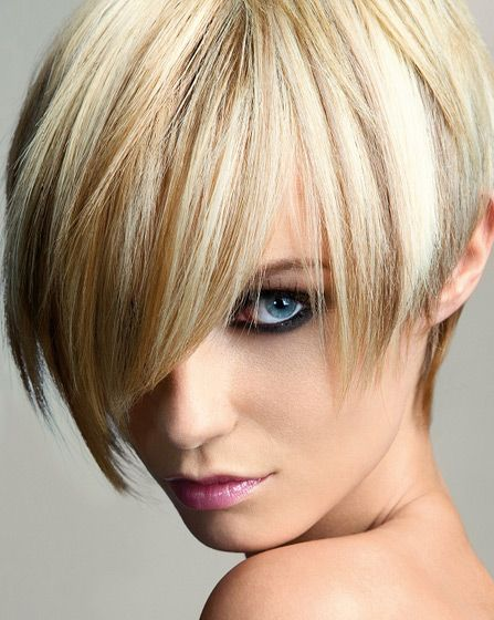 long bangs layerd bob hairstyle - looks good on HER... but would it ...