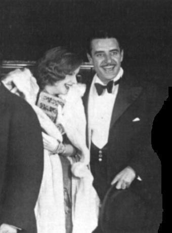 Greta Garbo and John Gilbert.