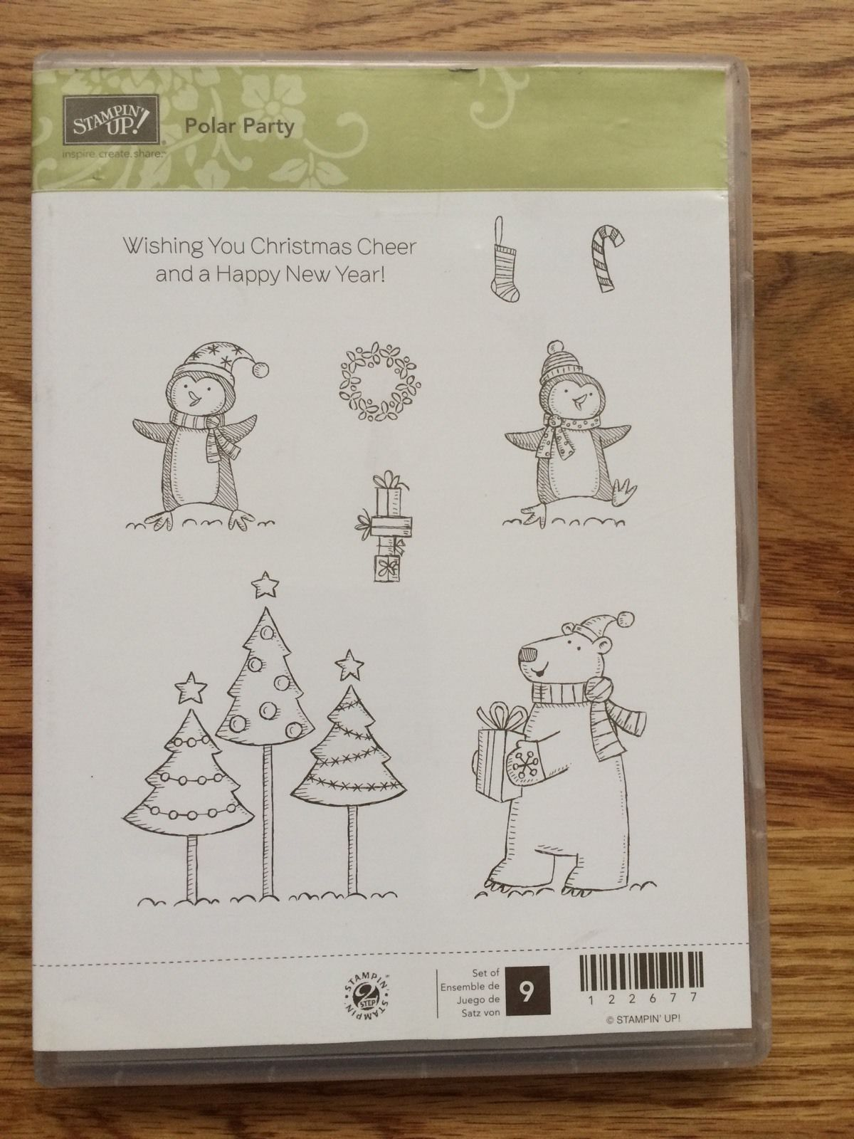 Stampin UP Polar Party Clear Mount Christmas Stamps  - Melanie