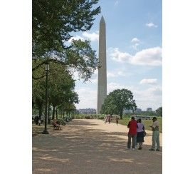 Constructed between 1848 and 1884, the Washington Monument is an elegant exclamation point on the National Mall.