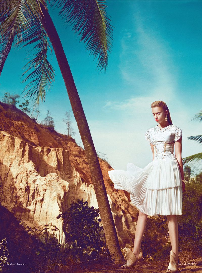 Marcelina Sowa is a White Magic Woman for Harpers Bazaar Mexico by Kevin Sinclair