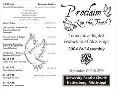 Free Printable Church Program Template  Church Program  Assembly