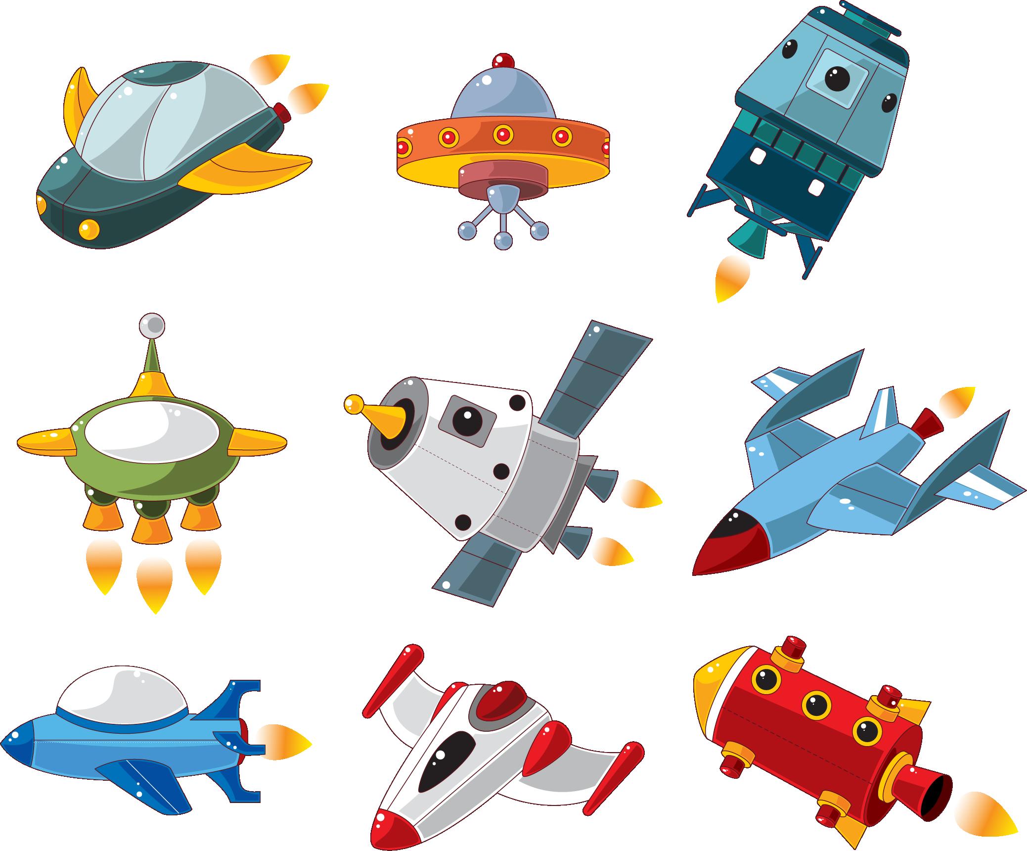 Детская картинка космический корабль