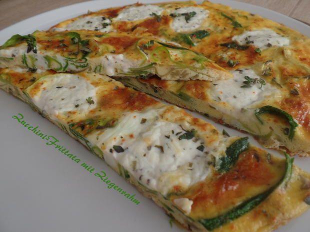 Zucchini-Frittata mit Ziegenrahm - Rezept