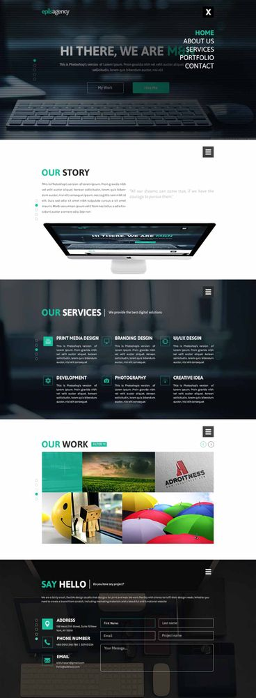 145 Best Free Psd Website Templates Art Print By Designrazzi X Small In 2020 Creative Agency Website Free Web Design Web Layout Design