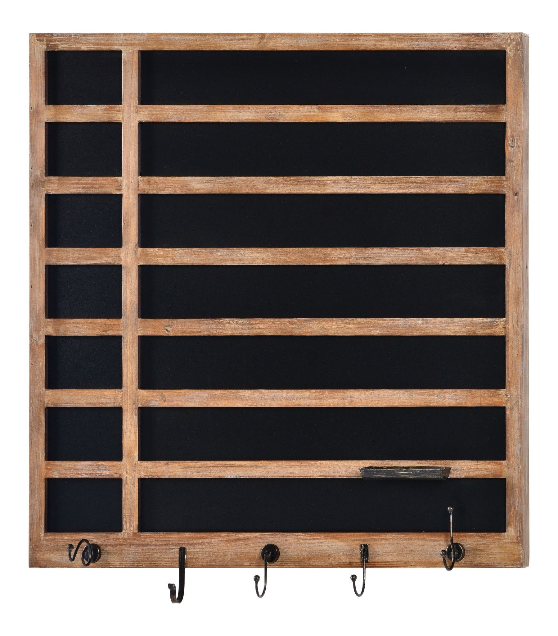 Twill chalkboard natural wood with bronze metal hooks products
