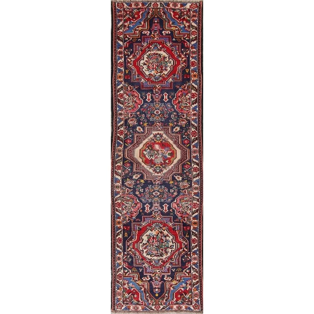 Refurbished Vegetable Dye Vintage Bidjar Persian Hand Knotted Oriental Runner Rug 12 5 X 3 8 Runner Blue Wool In 2020 Navy Blue Area Rug Beige Area Rugs Teal Area Rug