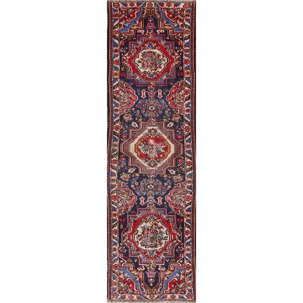Refurbished Vegetable Dye Vintage Bidjar Persian Hand Knotted Oriental Runner Rug 12 5 X 3 8 Runner Blue Wool In 2020 Navy Blue Area Rug Beige Area Rugs Teal Area Rug