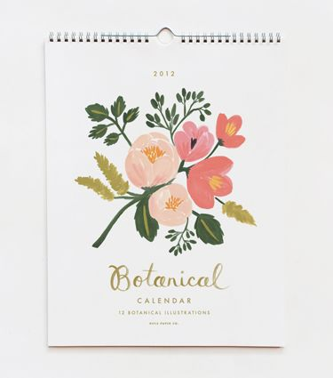 Rifle Paper Co. 2012 Botanical Calendar