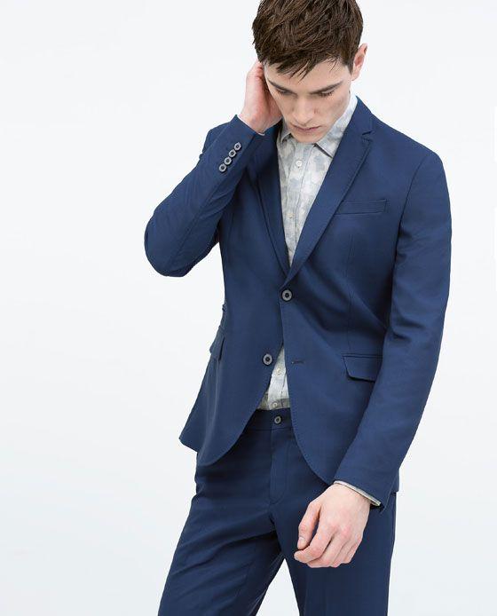 Vestiti Matrimonio Uomo Zara : Zara uomo abito completo blu elettrico suits