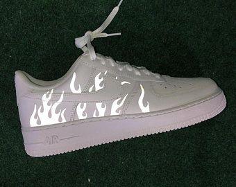 Reflective Playboy Nike Air Force 1 Custom Air Force 1s  Custom Air Force 1s