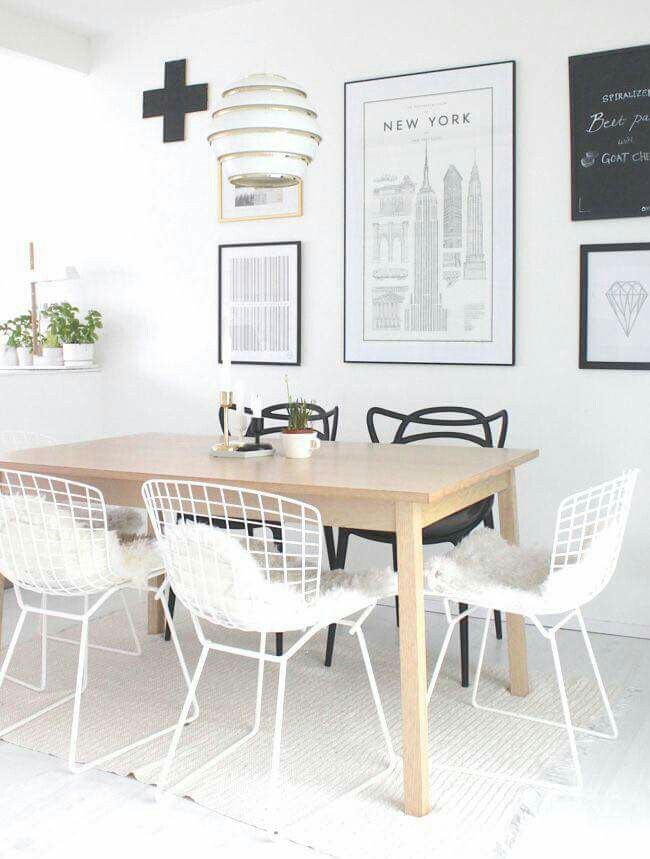Masters chairs by Kartell and Beehive pendant