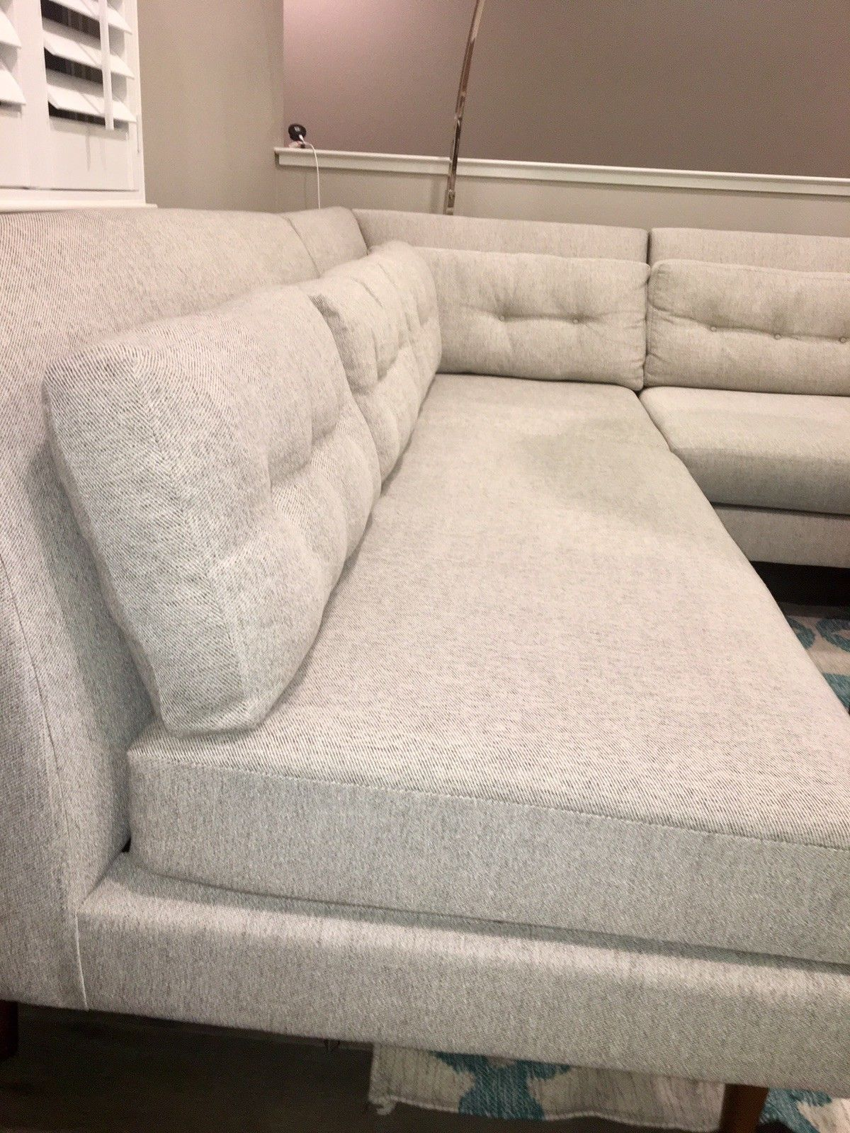 1750 00 Crosby Sectional Sofa From West Elm In Twill Stone Color Crosby Sectional Style Designers Organizing Archit Sectional Sofa Sofa Sectional