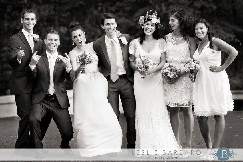 Love it when the bridal party lets loose! Echo Lake Country Club wedding, Westfield, NJ (Photographer Leslie Barbaro - lesliebarbarophoto.com)