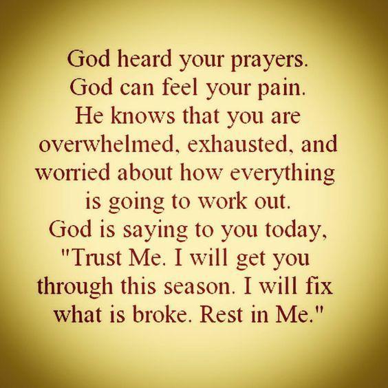 God Heard Your Prayers