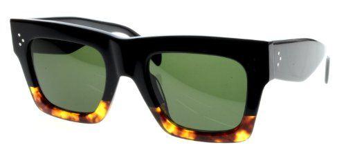 b459bb7eb3  deal Celine 41054 S Sunglasses-0FU5 Black Havana Tortoise (1E Green  Lens)-50mm