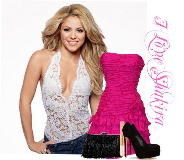 """Shakira"" by carolina31 ❤ liked on Polyvore"