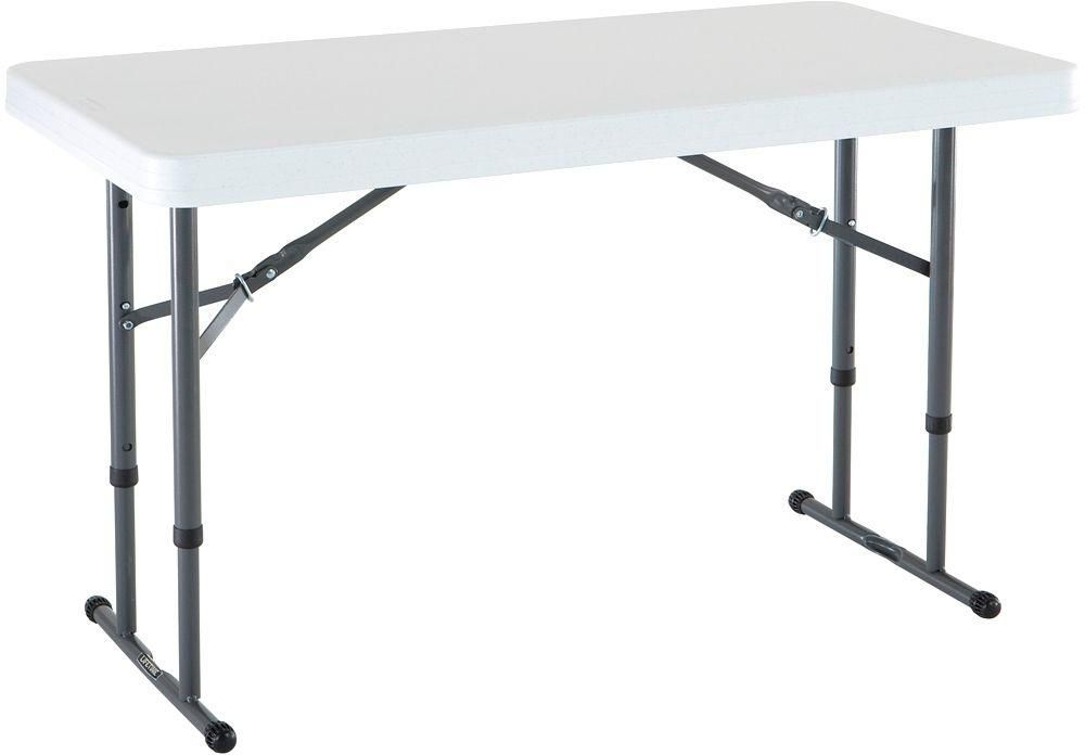 Indoor Outdoor White Adjustable Height Portable Folding Plastic Work Table Lifetime Adjustable Height Table Folding Table White Granite