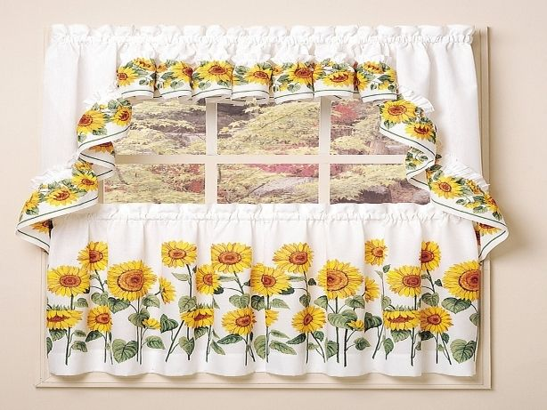 Sunflower Kitchen Curtains Ideas Sunflower Curtains Sunflower Kitchen Kitchen Curtains