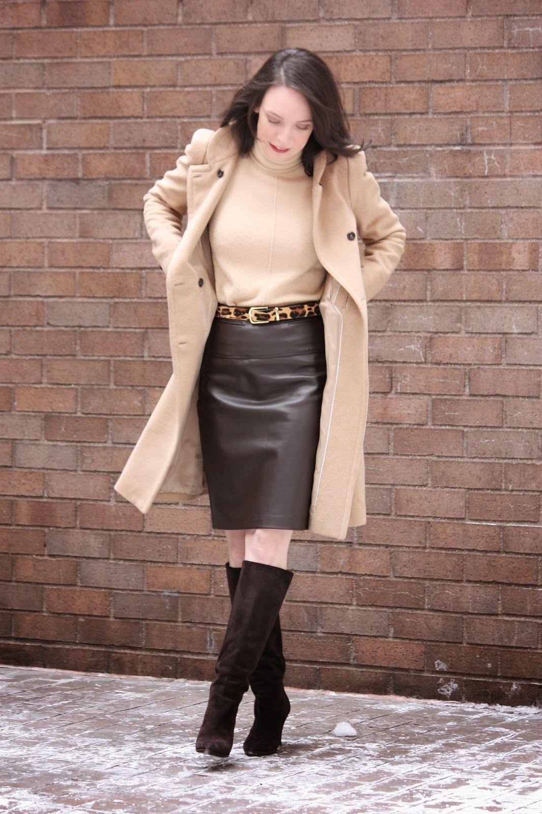 3d05f5d58e4d1 Neutrals Long Leather Skirt, Faux Leather Pencil Skirt, Black Leather Skirts,  Leather Dresses