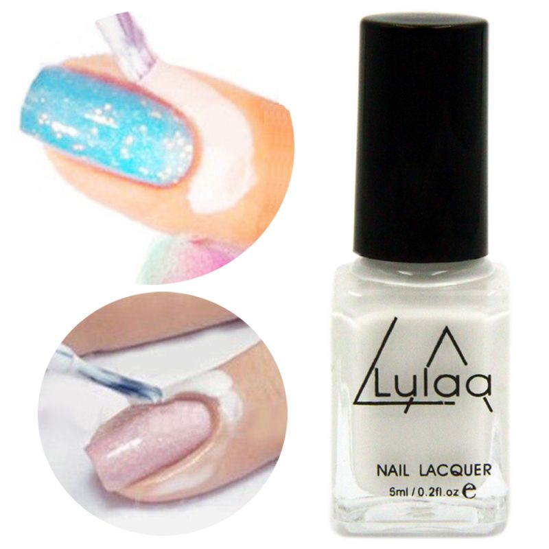 White L Off Liquid Nail Art Tape Latex Finger Skin Protected Palisade Easy Clean Base Coat Care Polish Professional Makeup Brush Set