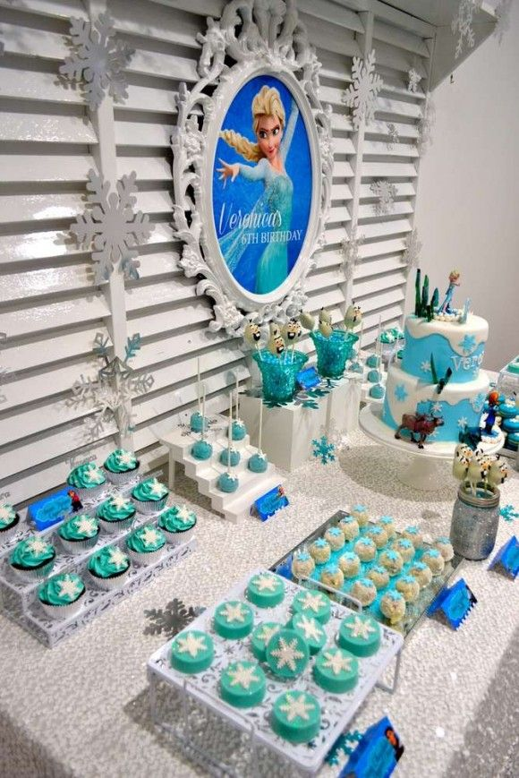 You Must See These 15 Stunning Frozen Dessert Table Ideas Disney Birthday Party Frozen Themed Birthday Party Frozen Theme Party