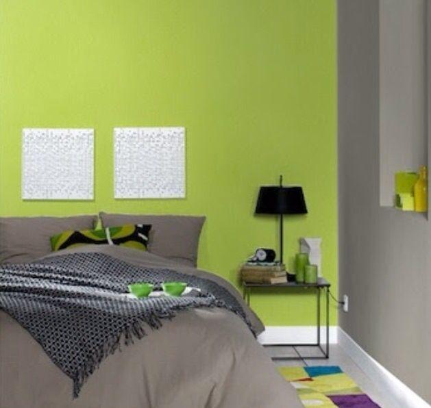 Recamara verde y gris