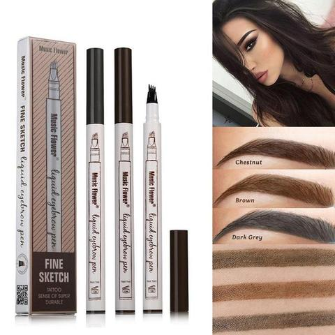 Kiss Beauty Waterproof Microblading Pen Long Lasting 3 Colors Fork Tip Eyebrow Tattoo Pen Crayon Sourcil Eyebrow Pencil Kb007 Waterproof Eyebrow Eyebrow Tattoo Eyebrow Pencil