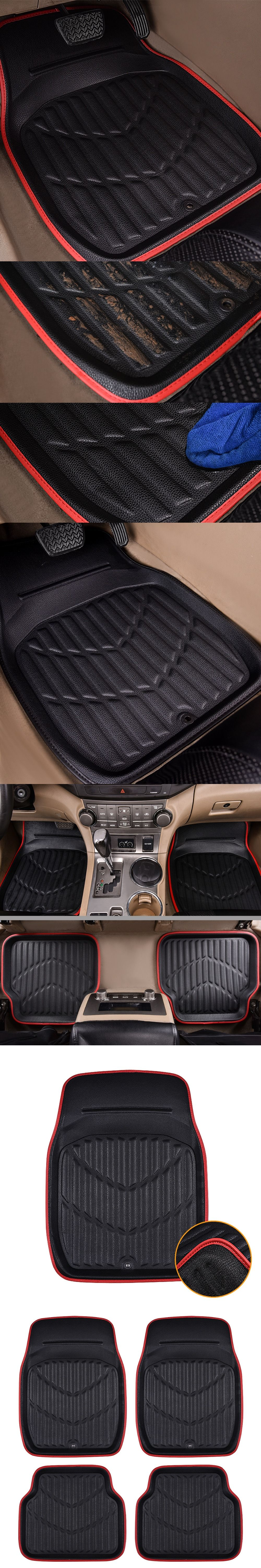 floor burgundy duty shop for combo mat bestfh product car mats heavy dash auto black