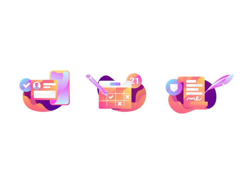 Illustration Icons Icon set design, Icon design