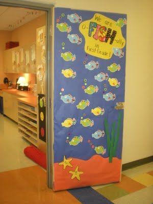 3D Ocean Spring Door Decoration Preschool Kindergarten Classroom Ideas