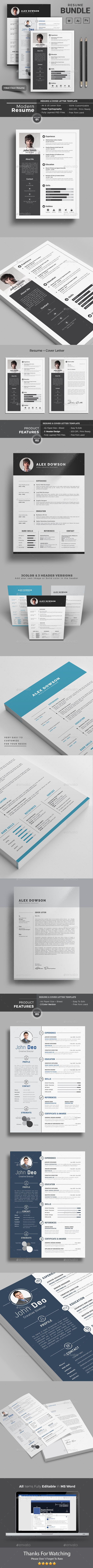 What Font To Use On Resume Resume Word Bundle  Resume Words Template And Resume Cv