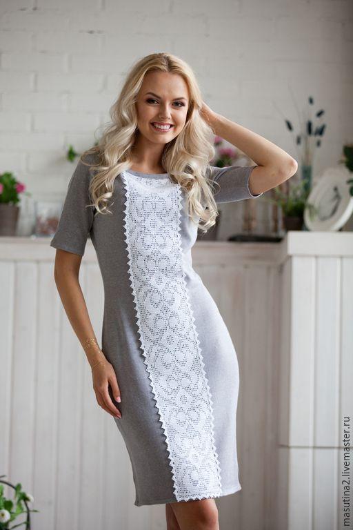 Сшить платье под вязаное платье