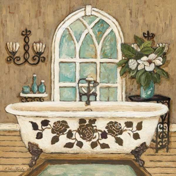 Gravura banheiro country bath inn ii posters e - Stampe botero bagno ...
