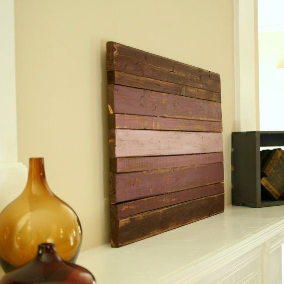 Wood Wall Art- Wood Decor- Ombre Designs- Purple Ombre- Distressed ...