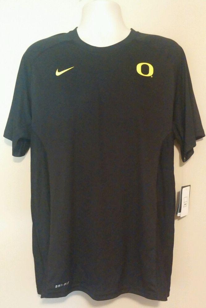 NWT Mens Oregon Black Vented Back Dri-Fit Shirt Size Large Team Isued  Nike   OregonDucks 12f710486