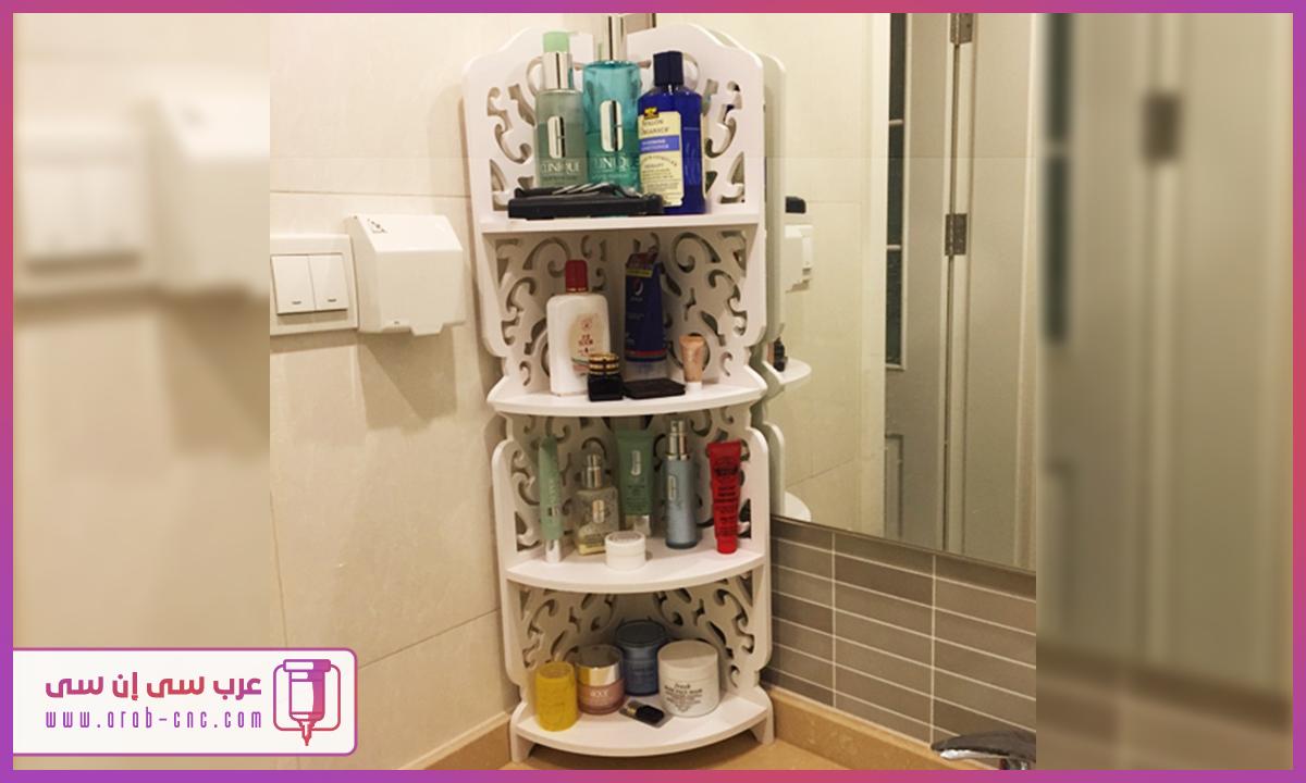 عرب سي إن سي Arab Cnc تحميل تصميم أرفف زاوية مودرن زخرفية مناسب للحمامات Toilet Paper Bath