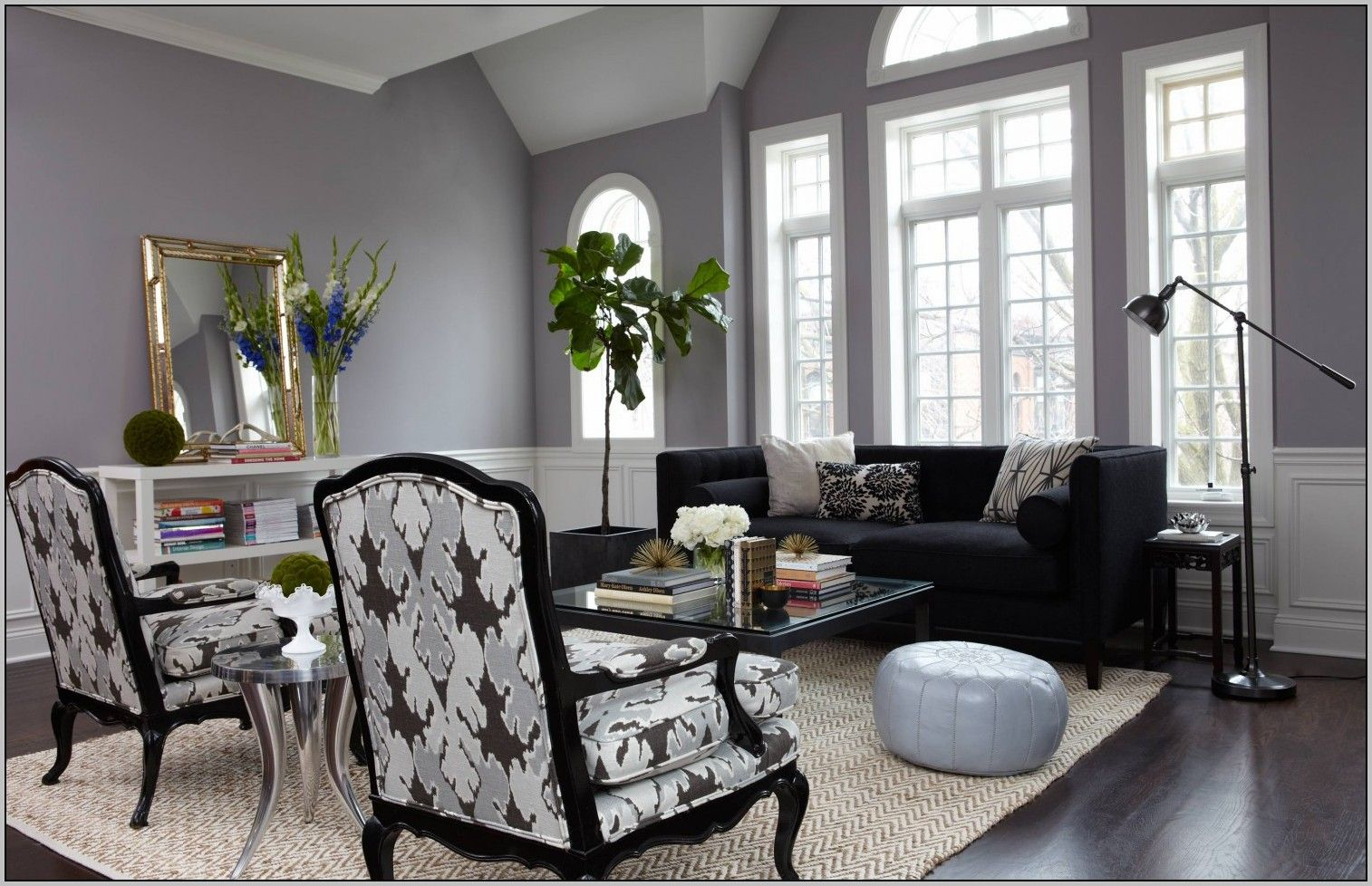 Room Warm Gray Paint Colors Living Round White Leather