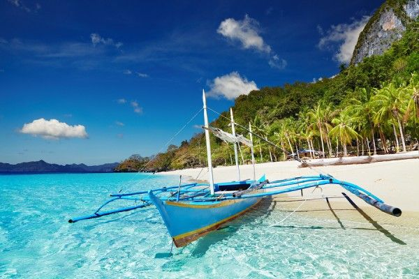 Tropical Beach South China See El Nido Philippines Philippines