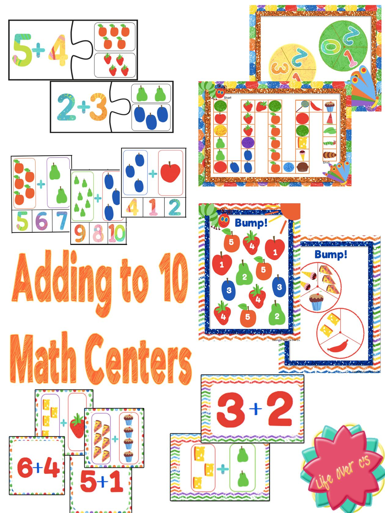 Addition Math Centers Amp Activities Adding Up To 10