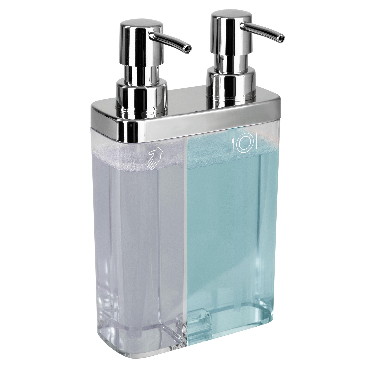 Kitchen Details Dual Pump Soap Lotion Dispenser In Clear Walmart Com Lotion Dispenser Lotion And Soap Dispensers Soap Lotion Dispensers