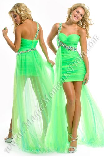 Bright Neon Prom Dresses | Party-Time-Prom-6008-1-Multi-Length ...